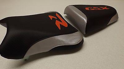 SUZUKI 03/04 GSXR 1000 BLACK/SILVER/RED  FRONT & REAR CUSTOM SEAT COVERS 1000R 03 04 Suzuki Gsxr1000 Rear