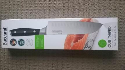 Baccarat Cuisine Pro 18cm Santoku Knife Brand New