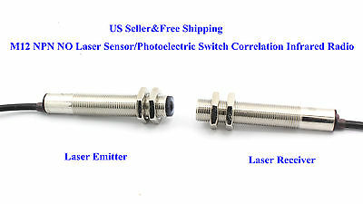 Us M12 Npn No Laser Sensorphotoelectric Switch Correlation Infrared Radio