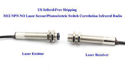 US M12 NPN NO Laser Sensor/Photoelectric Switch Correlation Infrared Radio