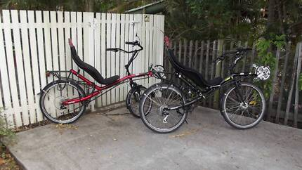 Recumbent bicycles  (2) with panniers bags ready for touring. Brisbane City Brisbane North West Preview
