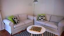 2 Matching Black and White Stripe (Ticking) Sofas Littlehampton Mount Barker Area Preview
