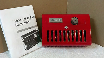 Barn Fan Control Thermostat Double Pole For 220 Vac 35 To 100 Range Honeywell