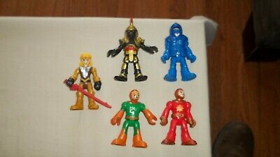 """Lot of 5 Fisher Price Imaginext 3"""" Action Figures, Knights, lady knight, VGC!"""