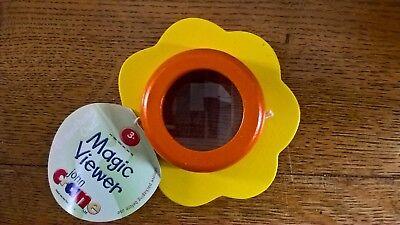 John Crane Wooden Painted Flower Magic View Kaleidoscope Orange/Yellow Party Bag](Magic Paint Kaleidoscope)
