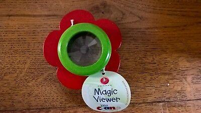 John Crane Wooden Painted Flower Magic Viewer Kaleidoscope Red Stocking Filler](Magic Paint Kaleidoscope)