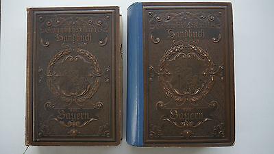 Geographisch-Historisches Handbuch von Bayern - 2 Bände 1895 / 1898