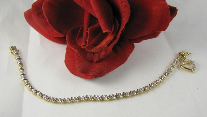 Sterling Silver Vermeil Adorable Heart Charm Bracelet  FERAL CAT RESCUE