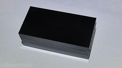 Lot 8 Mini Plastic Project Box Or Electronics Enclosure Black 2 X 1 X .7in