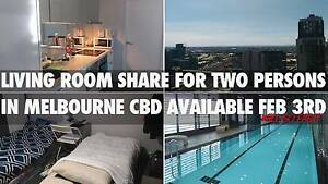Living room share for TWO Persons in Melbourne CBD avail feb 3rd Melbourne CBD Melbourne City Preview