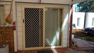 Cream Aluminium Sliding Door 2 Panel Security Screen 1800w x1900h Broadview Port Adelaide Area Preview