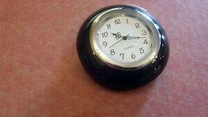 Vintage Vw volkswagen bug karmann ghia black steering wheel clock horn button