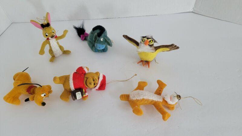 Walt Disney Winnie The Pooh and Friends Flocked Christmas Ornaments Hong Kong