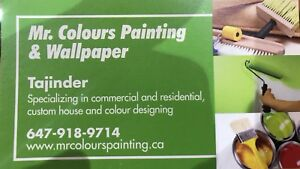 Mr.Colours Painting & Wallpaper ** 647 918 9714