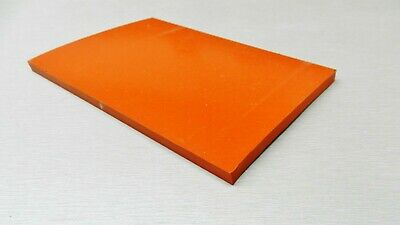 Silicone Rubber Pad 4 X 8 X 14 Thick Sheet High Temp Solid Redorange 4 X 8