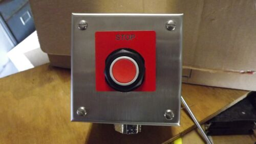 Square d stainless steel enclosure red momantary pushbutton switch 9001kyss1