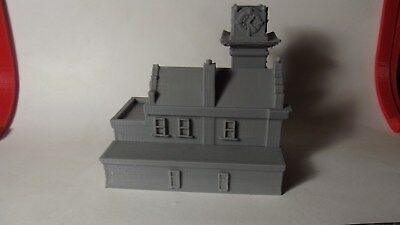 N Scale Old Time Fire Station   3D Printed