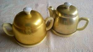 Vintage Teapot & Sugar Bowl Anodised Golden Grove Tea Tree Gully Area Preview