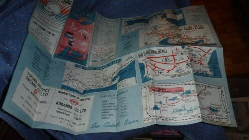 Vintage Tourist Map of Central Japan (Illustrated)  Advertising Great Graphics