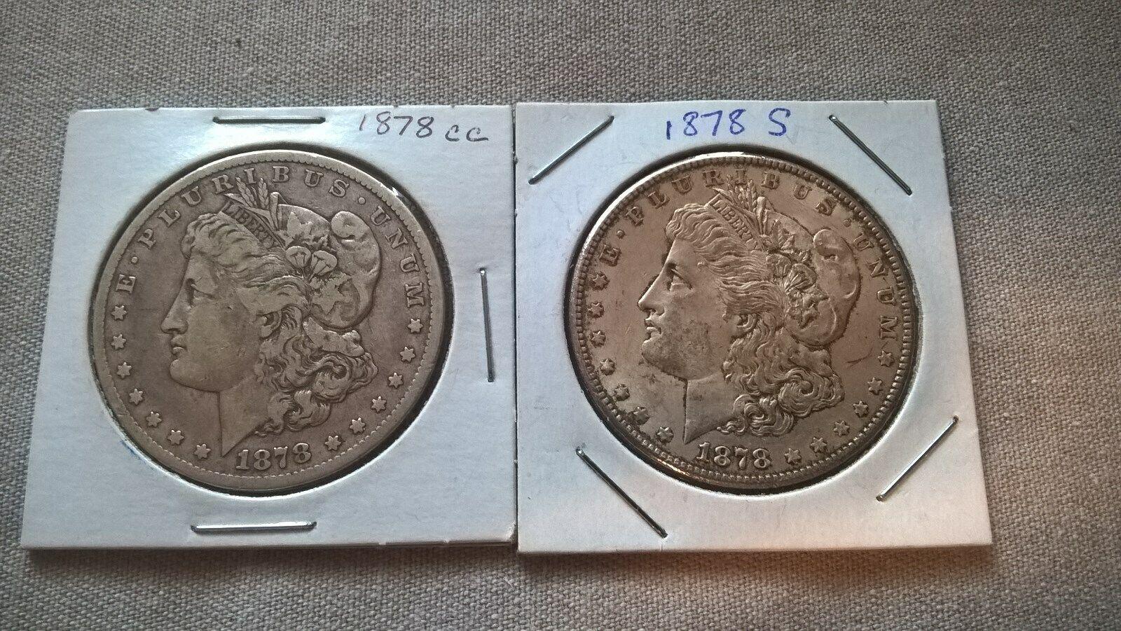 Morgan Silver Dollars 1878 CC And 1878 S - $123.15