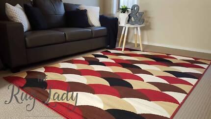 NEW!!! Small Multi Coloured Macaroon Floor Rug