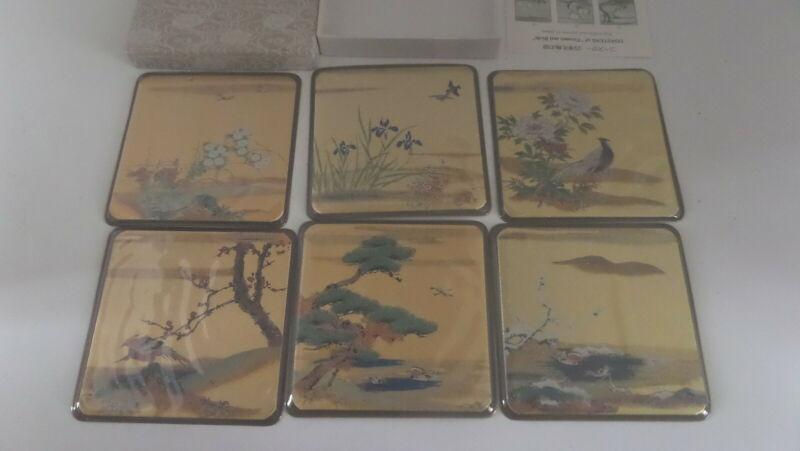Kyoto vintage coasters Japan flowers and birds (B-11)
