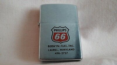 VINTAGE 1983,RARE  ZIPPO LIGHTER A PROMOTIONAL PHILLIPS 66 OIL IN GOOD UNUSED.