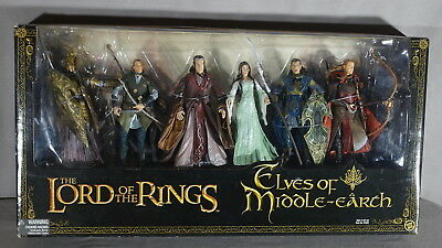 2000 LORD OF THE RINGS ELVES OF MIDDLE EARTH ACTION FIGURES MINT IN BOX (INV004)