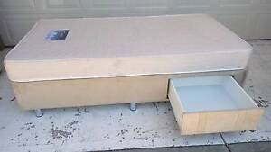 ✔ KING SINGLE BED SPRING MATTRESS + BASE + DRAW ✔ SILVER LEGS Melbourne Airport Hume Area Preview