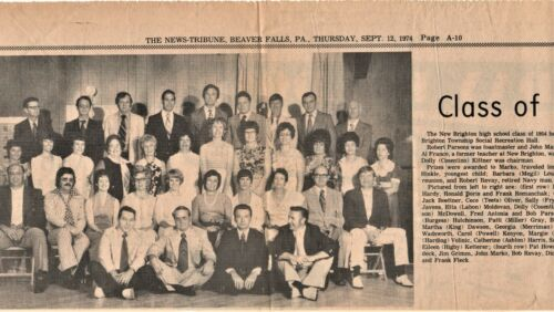 1974 Newspaper Story & Picture-Beaver Falls, PA High School  - NAMES IN LISTING!