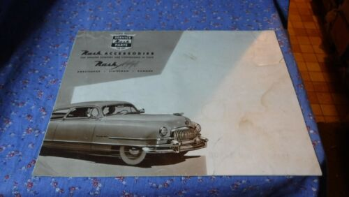 "1950 Nash Accessories Airflyte Ambassador Statesman Rambler 20 x 15 1/2"" Unfolde"