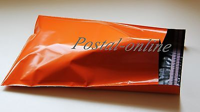 10 x ORANGE Plastic Mailing Bags 250 x 350 mm 10 x 14 10x14 250x350 postal mail