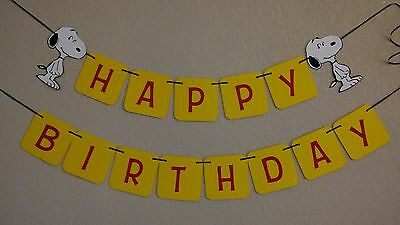 Snoopy Dog Happy Birthday Banner Sesame Street, FREE SHIPPING USA](Sesame Street Birthday Banner)