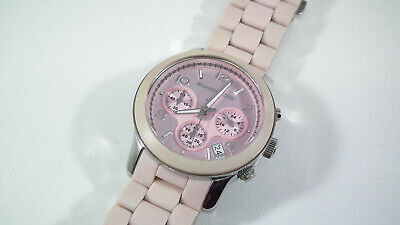Michael Kors Pink Silicone Women's Watch Chronograph MK-5195