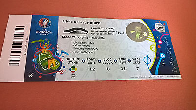 TICKET EURO 2016 : UKRAINE - POLOGNE MATCH 29