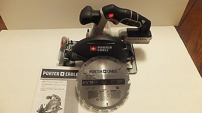 New Porter Cable 20V 20 Volt Max Pcc660 6 1 2  Circular Saw Lithium Ion W Blade