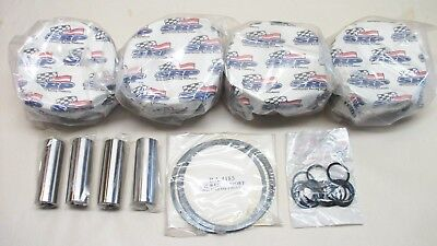 "SBC (4) JE Forged Flat Top Pistons 185819 Brand New 4.185""  3.750 stroke 6"" rod"