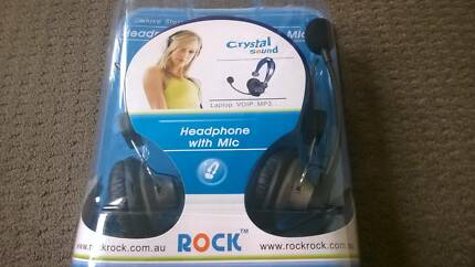 ROCK Stereo Headset with Mic - Brand New
