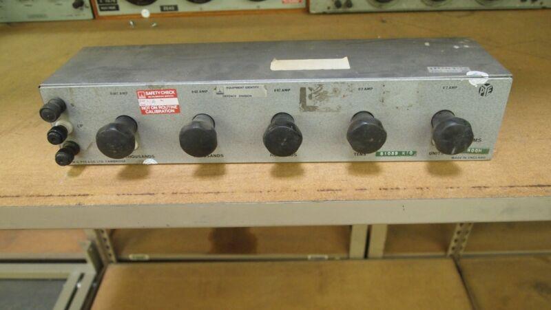 WG Pye Co Power Resistance Decade Attenuator Rotary Rheostat Resistor Block
