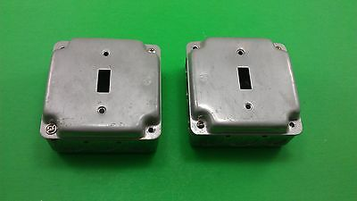 2 Square Electrical Boxes With Switch Installation Covers