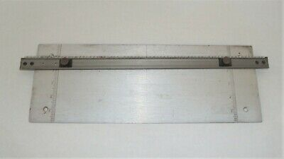 New Hermes Engravograph Pantograph Engraving Font Slide Holding Holder Baseplate