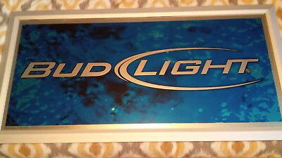 Bud Light Mirror Budweiser beer sign