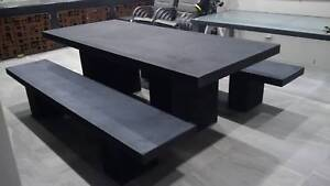 CONCRETE GFC DINING SETTING INDOOR/OUTDOOR