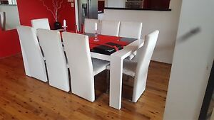 Modern Black and white 8 Seater dining table Bedfordale Armadale Area Preview