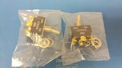 Lot Of 2 Pcs Honeywell Switch 12ts15-8 Toggle On On Dpdt 20a 277vac