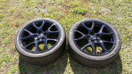 2 x 18 inch MPS BL gloss back wheels and tyres Plumpton Blacktown Area Preview