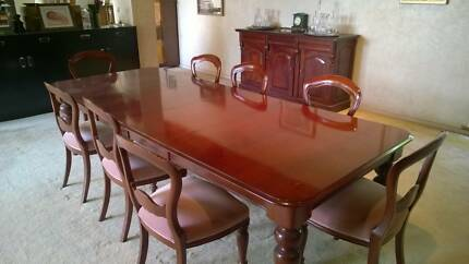 Reproduction Antique Victorian Mahogany Dining Setting Toorak Stonnington Area Preview