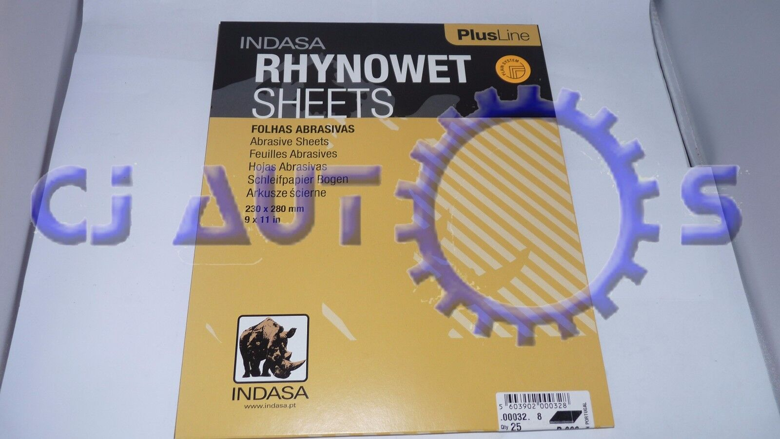 INDASA RHYNOWET PLUSLINE ABRASIVE SHEETS P180 x25 WET DRY WATER PROOF SAND PAPER