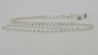 Stainless Steel Silver Eyeglass Chain Holder - Men or Women