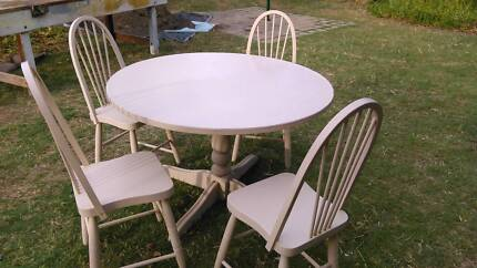 1.2M Round dining table + 4 chairs for cheap sale - $65!   Dining ...